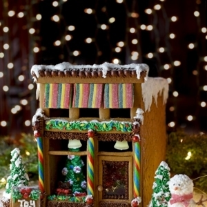 Gingerbread House 7083 Web 300x300 - Victorian Storefront Gingerbread House Template