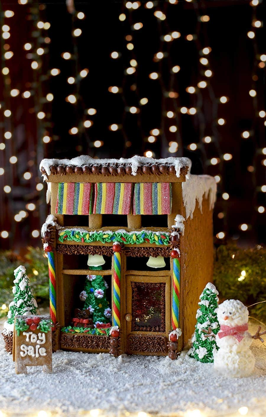 Gingerbread House 7083 Web - Victorian Storefront Gingerbread House Template