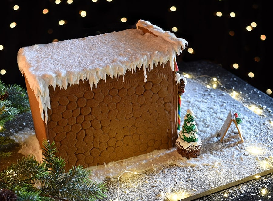Side and roof of gingerbread house