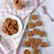 Vegan Peanut Butter Cookies- Crispy Outside, Chewy Inside!