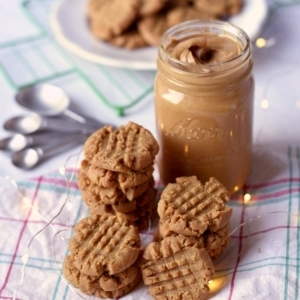 Vegan Peanut Butter Cookies 7352 Web 2 300x300 - Vegan Peanut Butter Cookies- Crispy Outside, Chewy Inside!