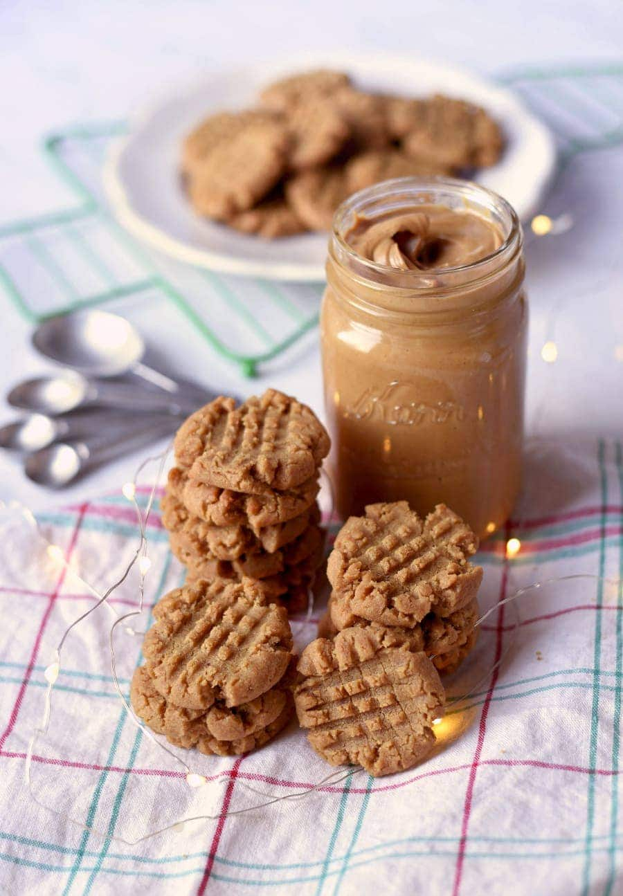 Vegan Peanut Butter Cookies 7352 Web 2 - Vegan Peanut Butter Cookies- Crispy Outside, Chewy Inside!