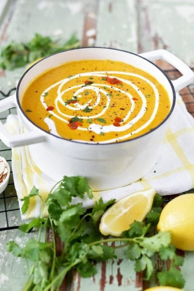 Instant Pot Sweet Potato Soup 8027 Web 400x600 - Instant Pot Moroccan Sweet Potato Soup