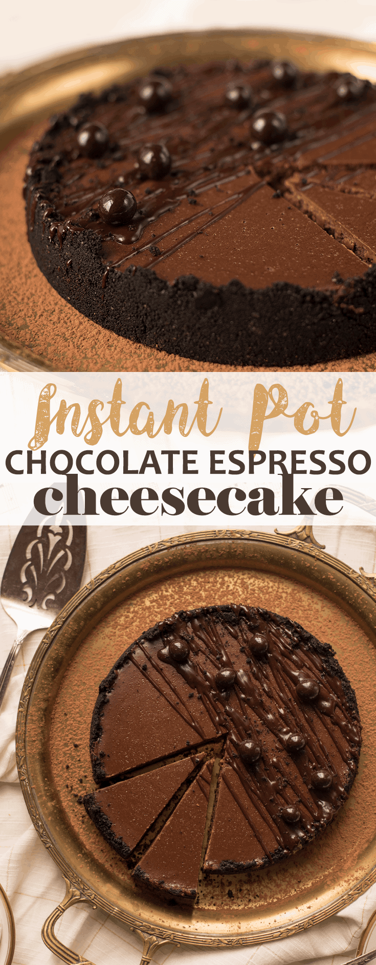 Follow our step-by-step instructions to make this flawless Instant Pot cheesecake with an Oreo crust and a creamy chocolate filling. Give the love of your life a taste of indulgence!