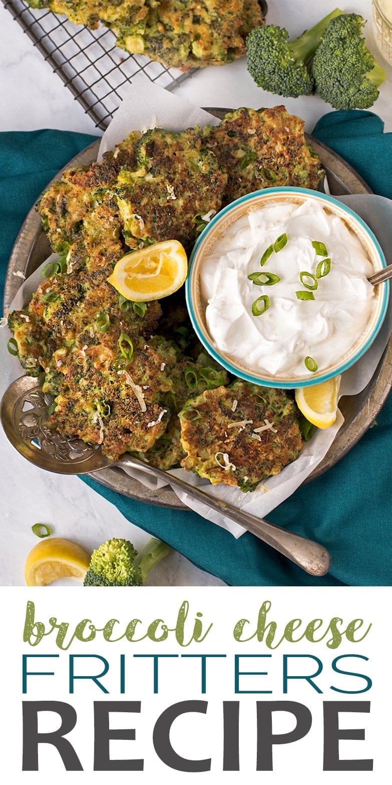Broccoli Cheese Fritters - Broccoli Fritters with Cheddar and Scallions
