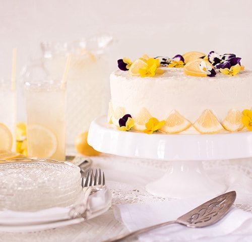 Lemon Blueberry Cake Vintage Kitty