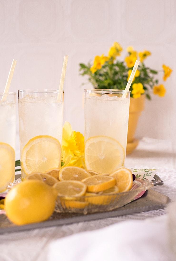 tray of lemonade