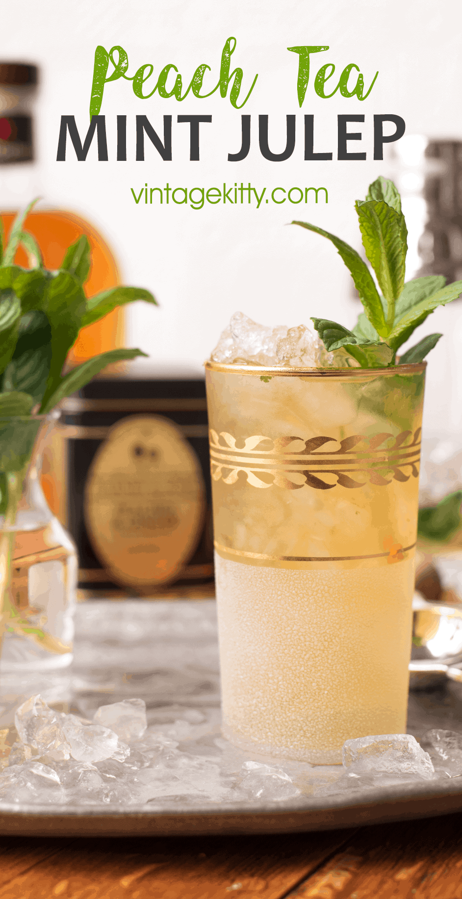 Mint Julep Pin 2 - Peach Tea Mint Julep