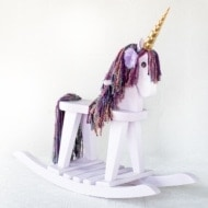 Vintage Rocking Horse Makeover into a Unicorn