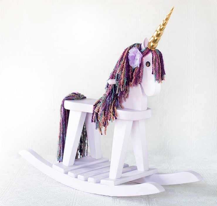 Rocking Horse Unicorn 9702 composite Web - Vintage Rocking Horse Makeover into a Unicorn