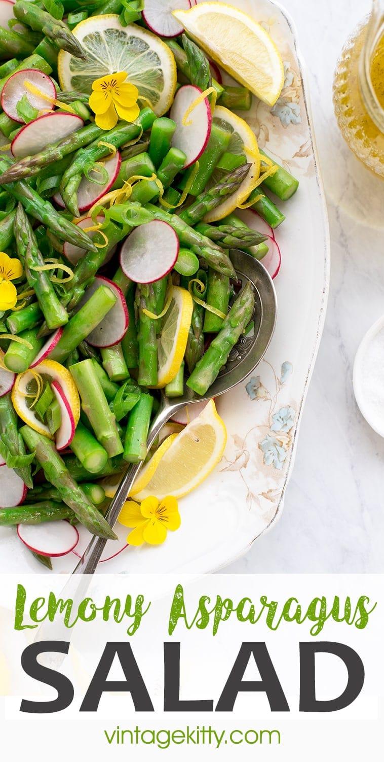 Asparagus Salad Pin 2 - Asparagus Salad with Lemon Vinaigrette