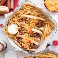 30 Minute Homemade Chili Cheese Dogs