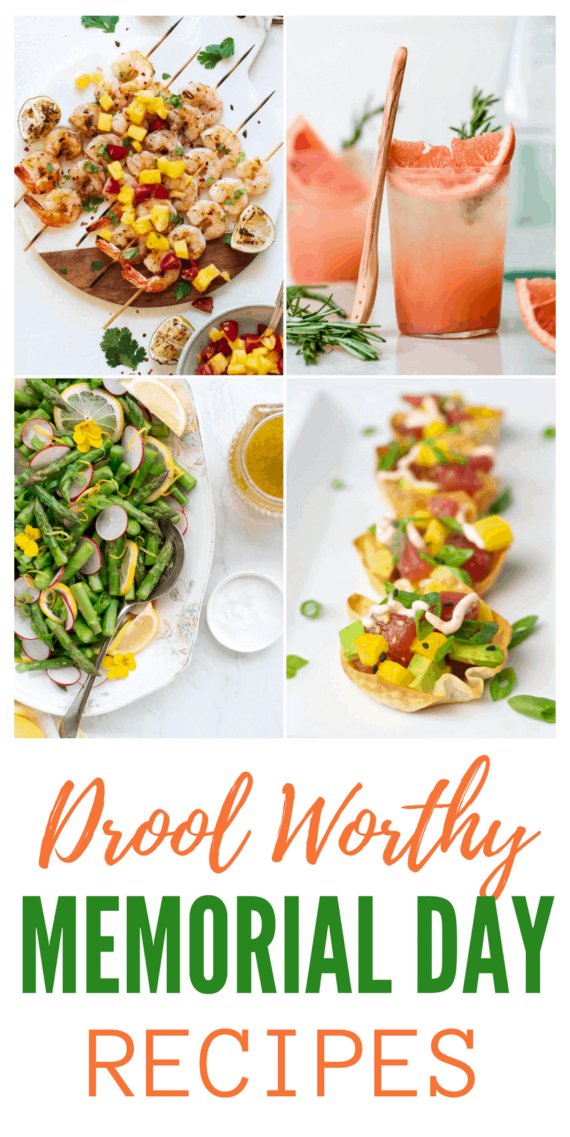 Are you ready to kick off the summer season? We've got oodles of drool-worthy Memorial Day recipes that will make your long weekend a blast! This roundup has it all! Healthy, indulgent, omnivore, vegan...there's something for everyone on this menu. #memorialdayrecipes #bbq #cookout #memorialday #summerrecipes #barbecue #grilling