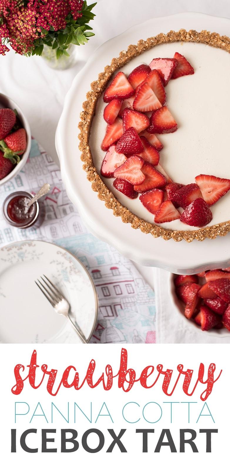 Strawberry Panna Cotta Tart Pin 2 - Strawberry Panna Cotta Tart