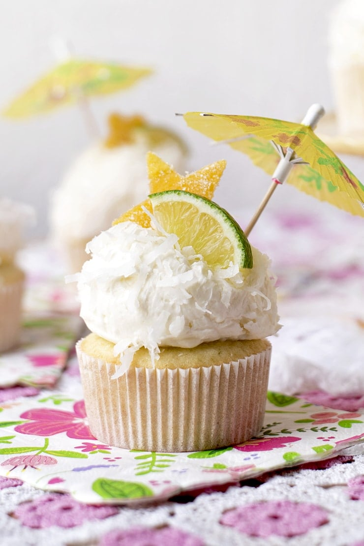 Tropical Coconut Cupcakes 1238 2 Web - Tropical Coconut Cupcakes with Mango Curd and Coconut Buttercream