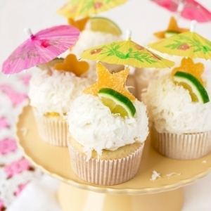 Tropical Coconut Cupcakes 1383 Cropped Web 300x300 - Tropical Coconut Cupcakes with Mango Curd and Coconut Buttercream