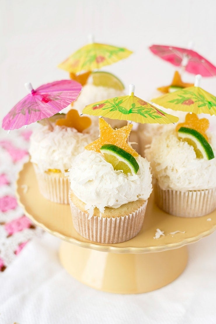 Tropical Coconut Cupcakes 1383 Cropped Web - Tropical Coconut Cupcakes with Mango Curd and Coconut Buttercream