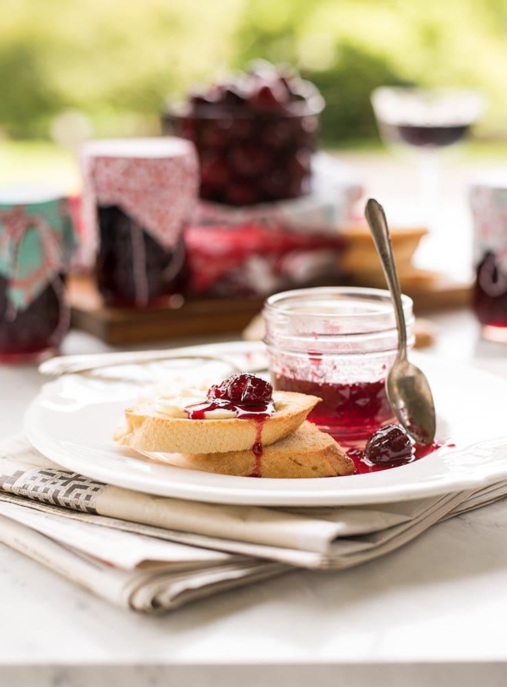 Cherry Jam 3155 Web - Sweet Cherry Jam with Merlot Wine