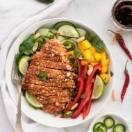 Crispy Peanut Chicken with Asian Salad