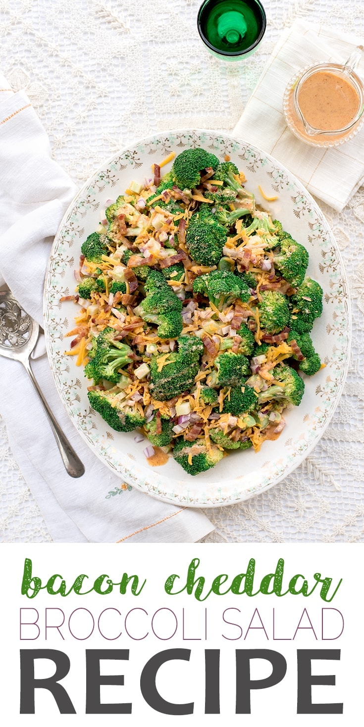 Broccoli Salad with Bacon and Cheddar 2 - Broccoli Salad with Bacon and Cheddar