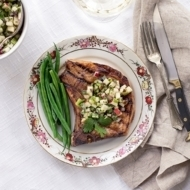 Grilled Pork Chops with Apple Salsa