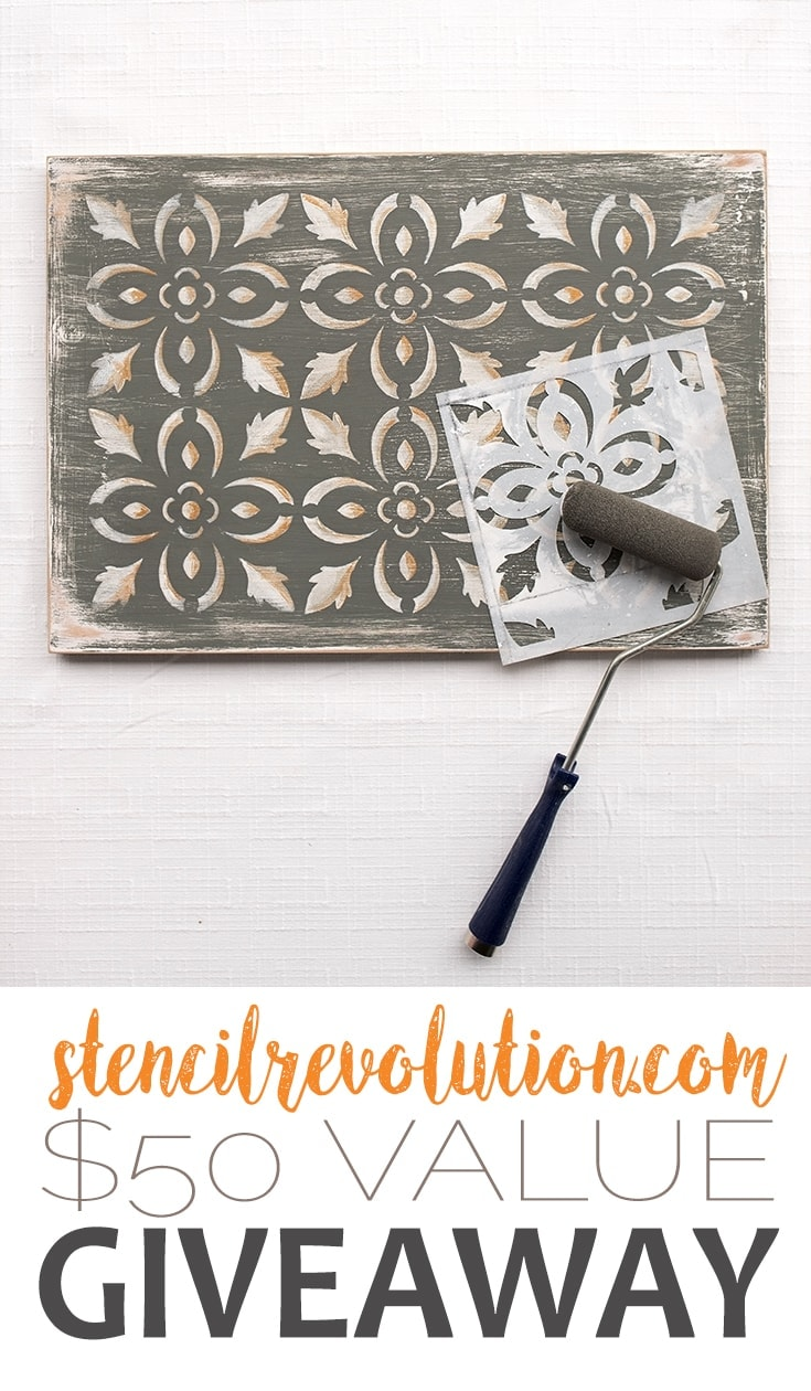 [AD] Stencil Revolution $50 Gift Cetificate Giveaway #giveaway #stencils #crafts #homedecor #diy #entertowin | vintagekitty.com