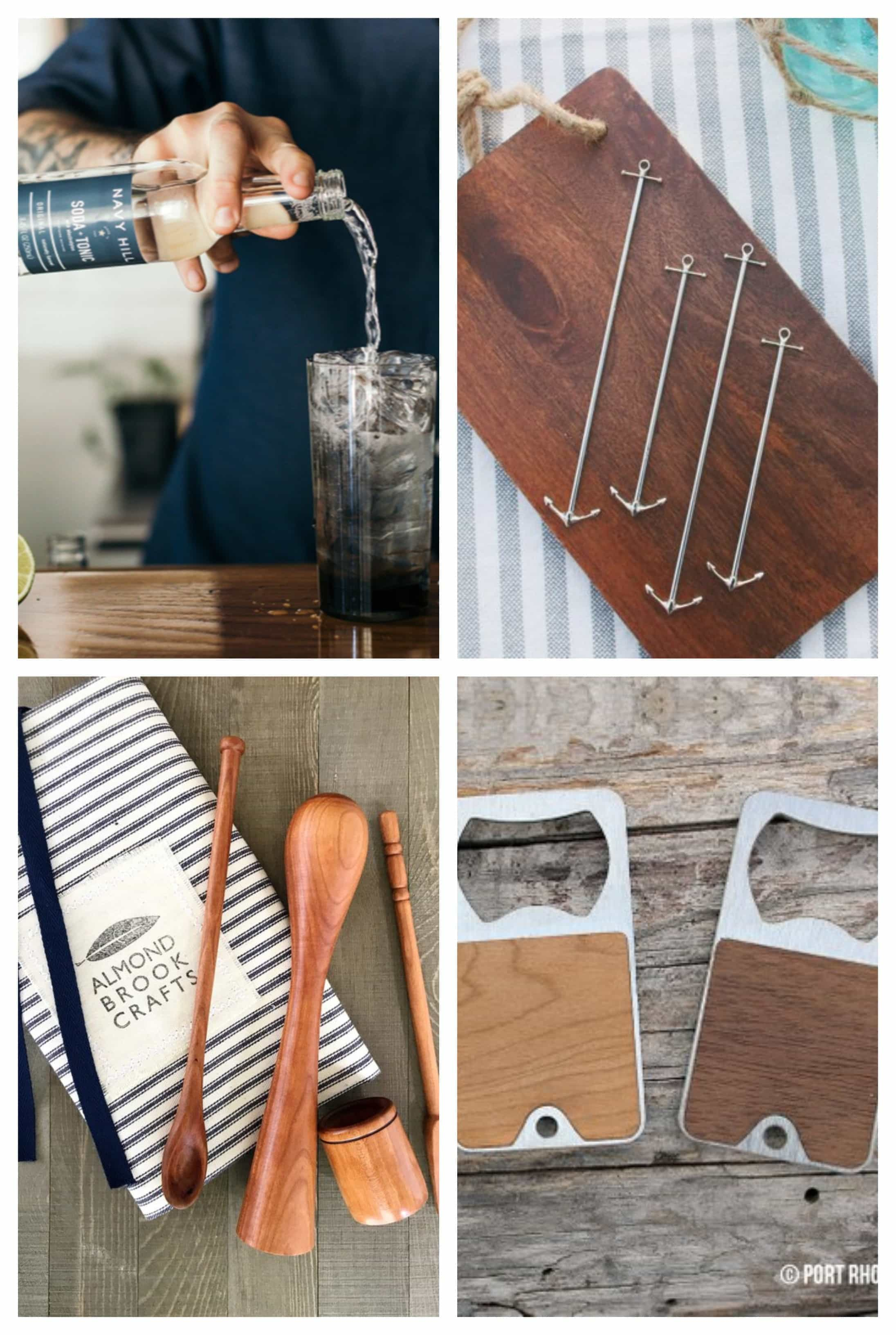 Looking for gifts for the home mixologist? We've got you covered! Our picks for snazzy drink accessories, classic bartending tools and small batch mixers are sure to delight! #giftguide #cocktail #mixologist #happyhour
