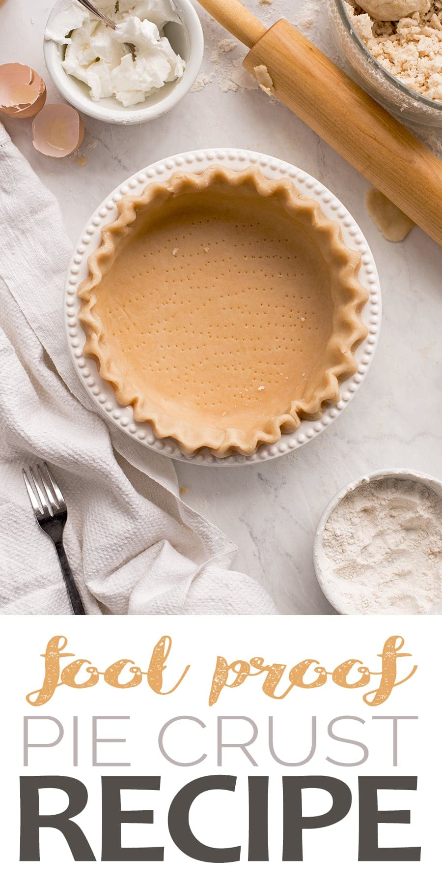 This heirloom pie crust recipe rolls out like a dream. It's flaky, tender and time tested so you know it will never fail.