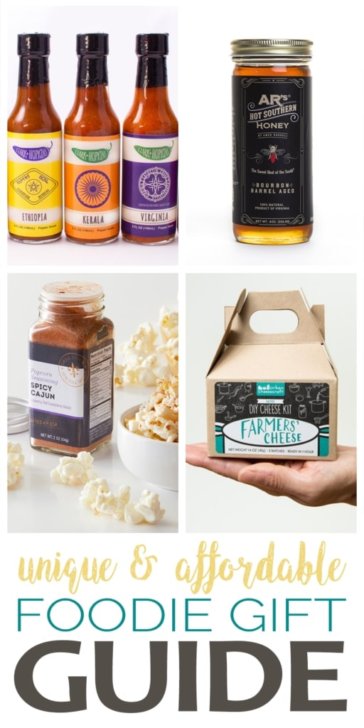 It is that time of year again! Don't let shopping for the foodie in your life be frustrating.  Check out these sure to please food gifts that won't break the bank
