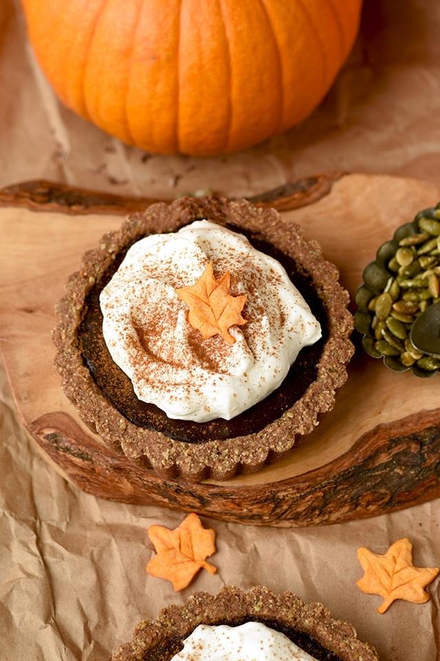 Pumkin Chocolate Tarts 6240 cropped - Mouthwatering Thanksgiving Menu Ideas