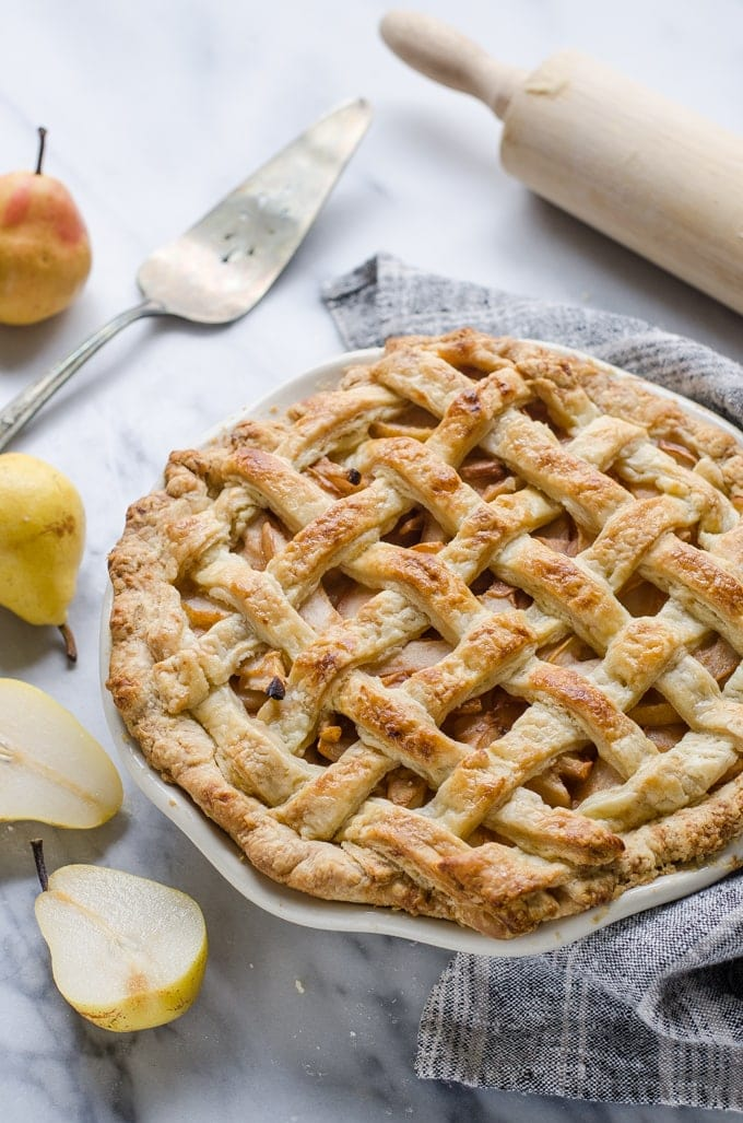 Spiced Pear Pie with Sourdough Crust 14 - Mouthwatering Thanksgiving Menu Ideas
