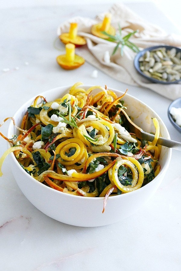 Spiralized Golden Beet Salad with Rosemary Honey Dressing 5 - Mouthwatering Thanksgiving Menu Ideas
