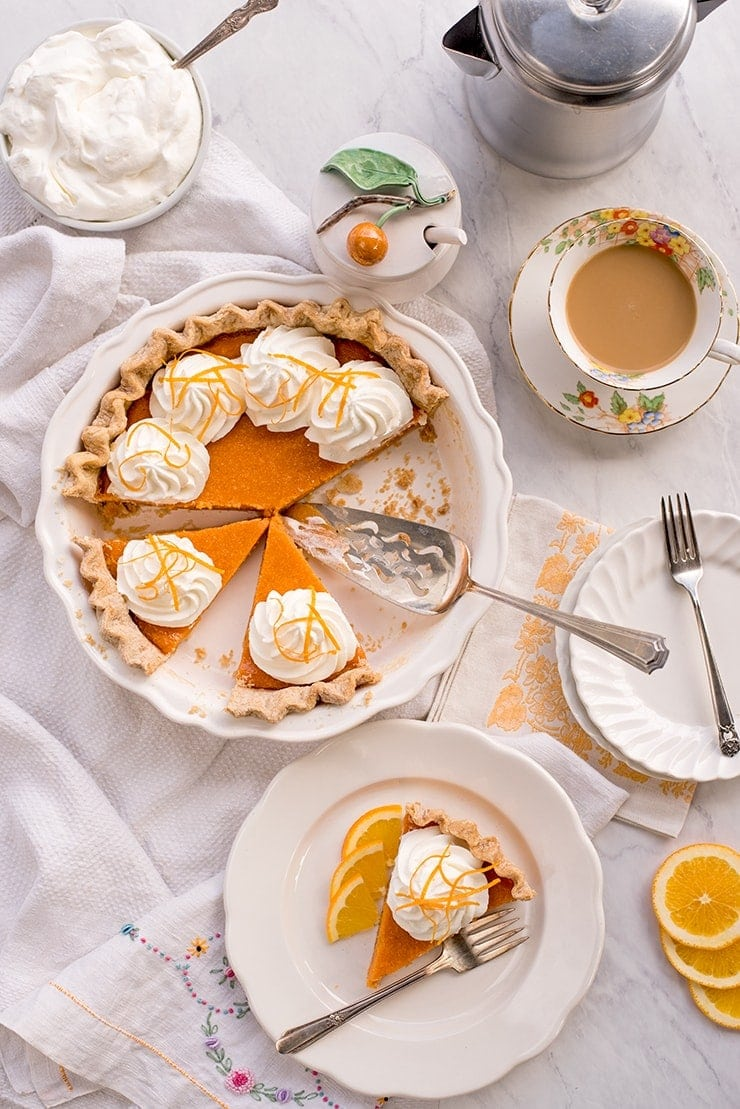 Sweet Potato Pie 6687 Web - Buttermilk Sweet Potato Pie
