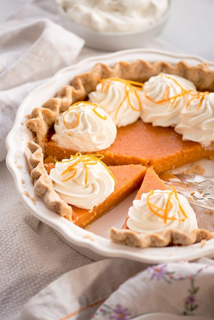 Sweet Potato Pie 6724 Web - Buttermilk Sweet Potato Pie