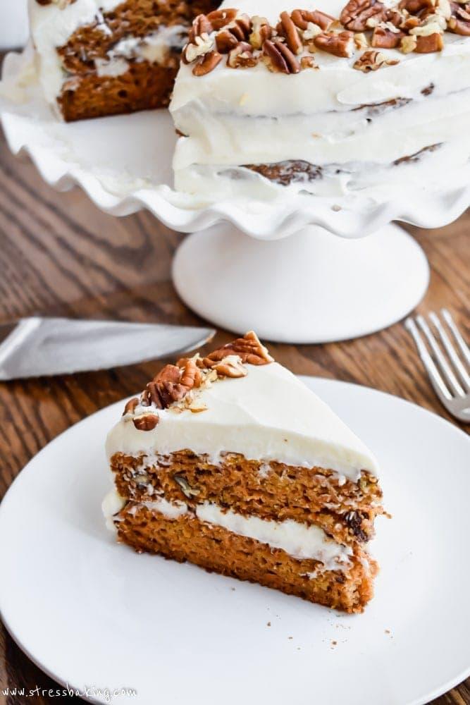 pale carrot cake 1 7 - Mouthwatering Thanksgiving Menu Ideas