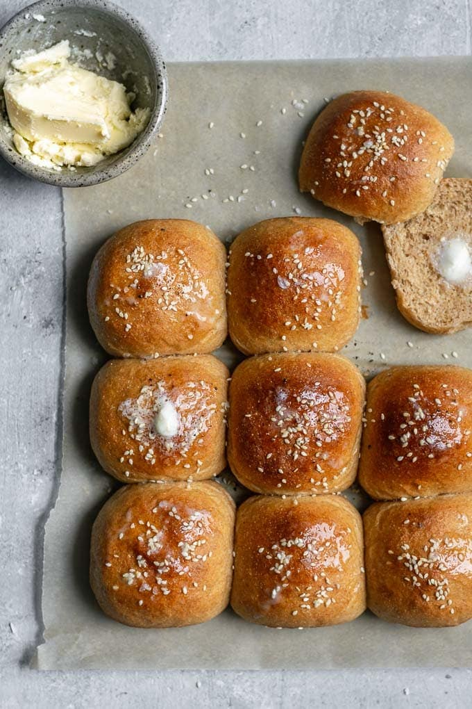 soft whole wheat rolls 1 - Mouthwatering Thanksgiving Menu Ideas