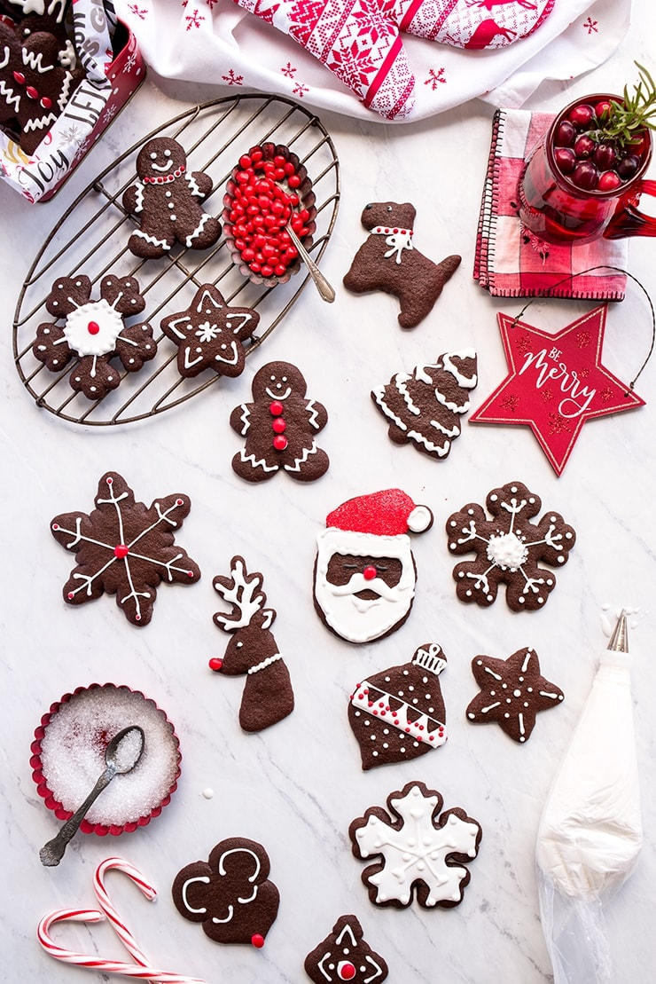 Chocolate Gingerbread Cookies 6846 Web - Cut Out Chocolate Gingerbread Cookies