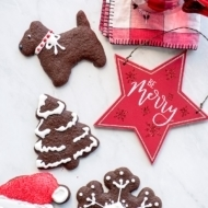 Cut Out Chocolate Gingerbread Cookies