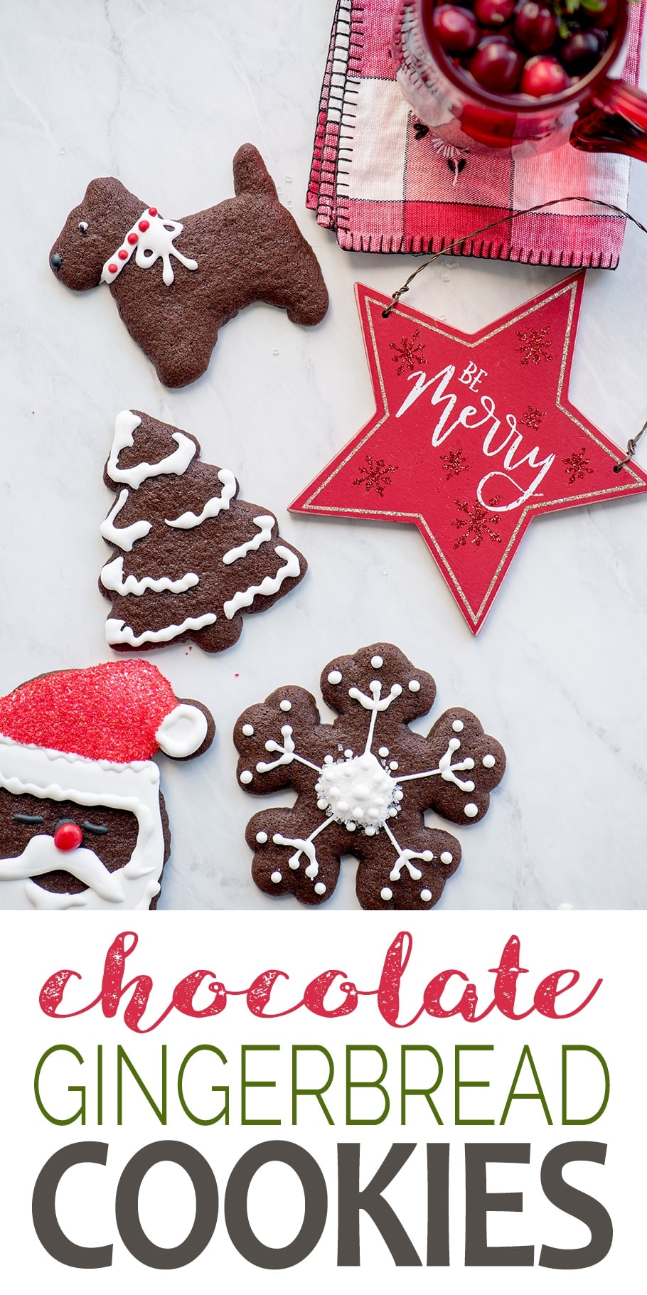 Chocolate Gingerbread Cookies Pin 1 - Cut Out Chocolate Gingerbread Cookies