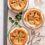 Roasted Root Vegetable Pot Pies