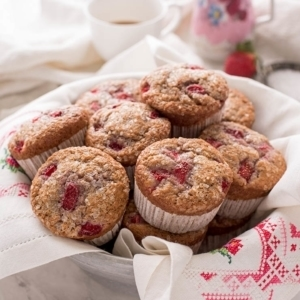 Strawberry Muffins 7800 Web 300x300 - Bakery Style Strawberry Muffins
