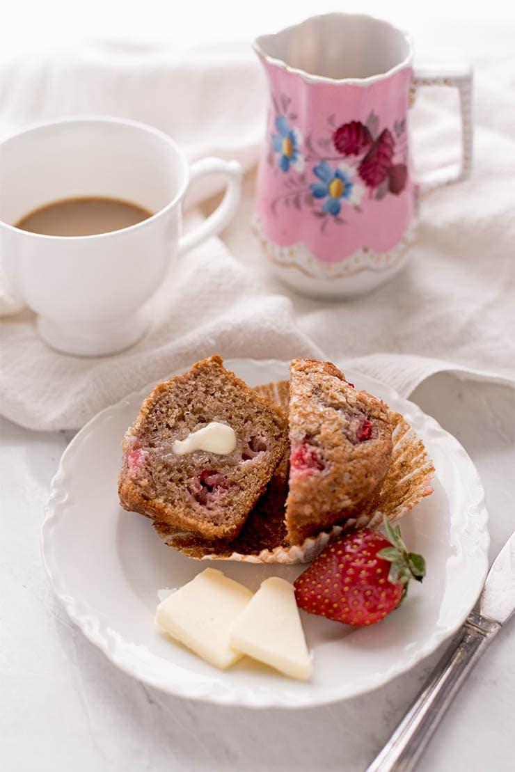 Strawberry Muffins 7829 Web - Honey Walnut Zucchini Bread