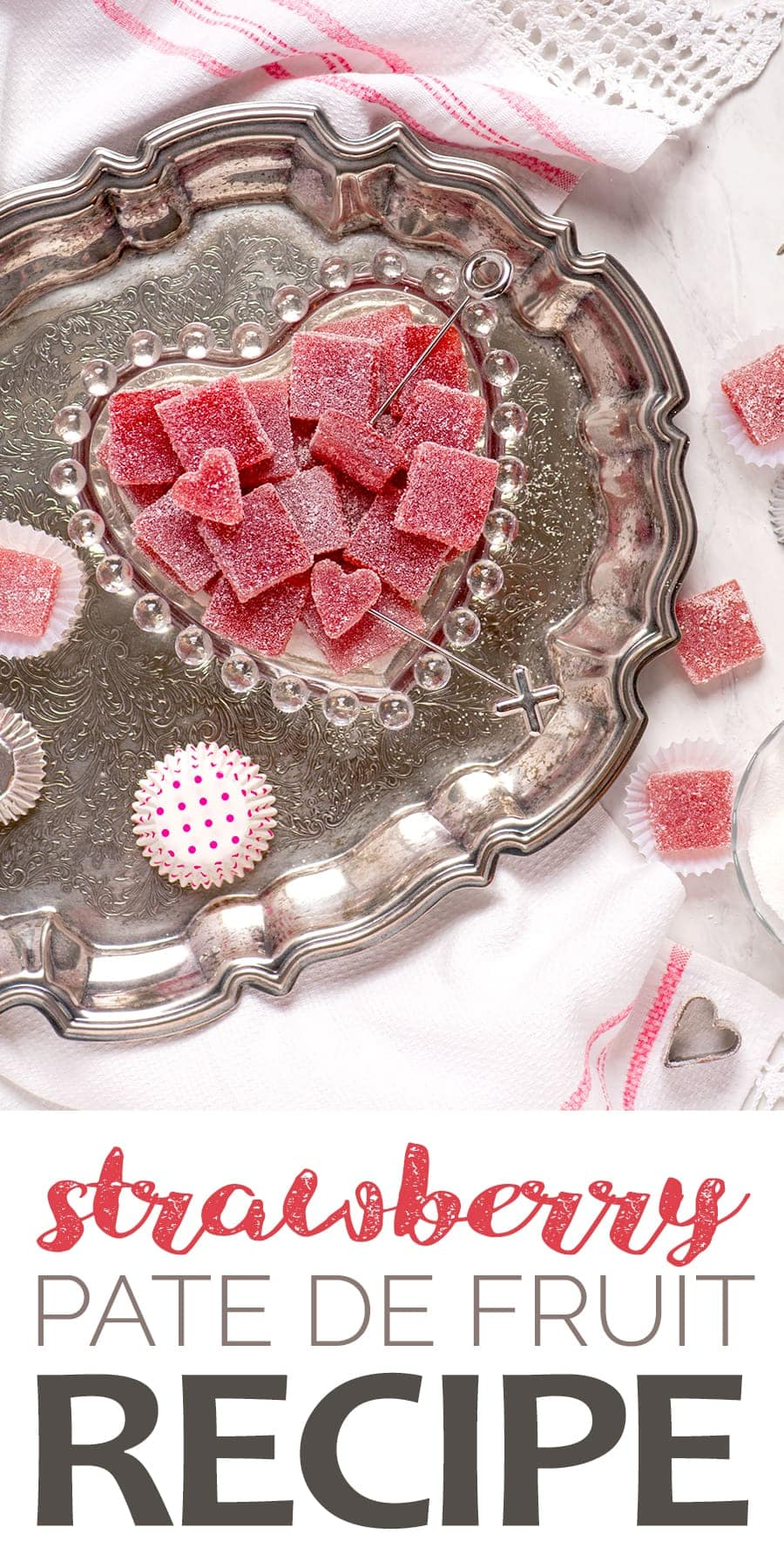 Strawberry Pate de Fruit Pin 2 - Strawberry Pate de Fruit {Fruit Jelly Candy}