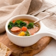 Sausage Kale Soup with Heirloom Carrots