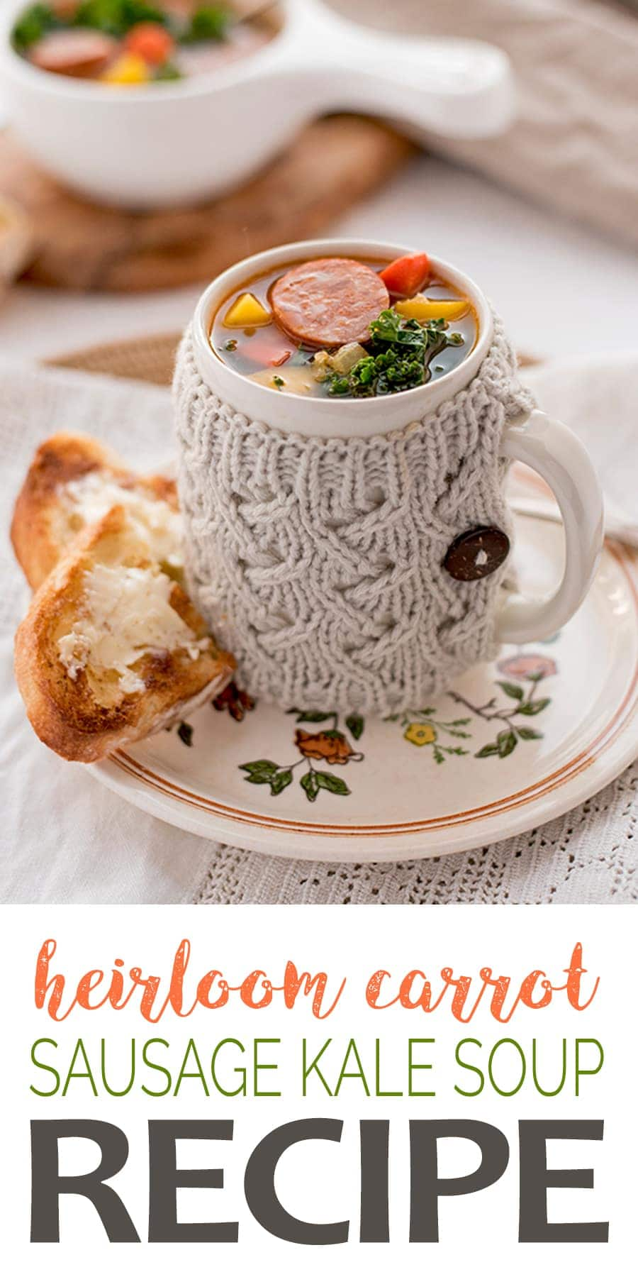 Sausage Kale Soup - Sausage Kale Soup with Heirloom Carrots