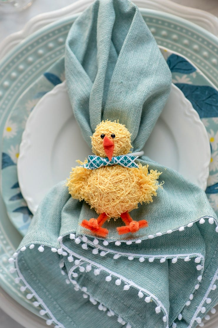 Chick Napkins Rings 8715 Copy Web - DIY Easter Napkin Rings
