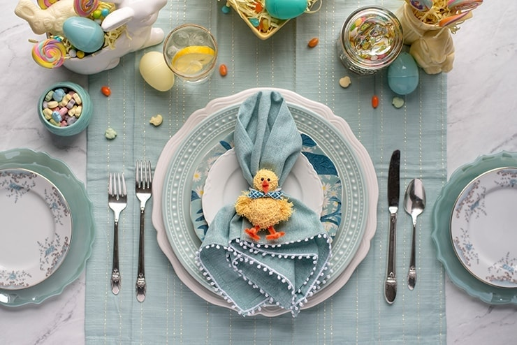 Chick Napkins Rings 8754 Web - DIY Easter Napkin Rings