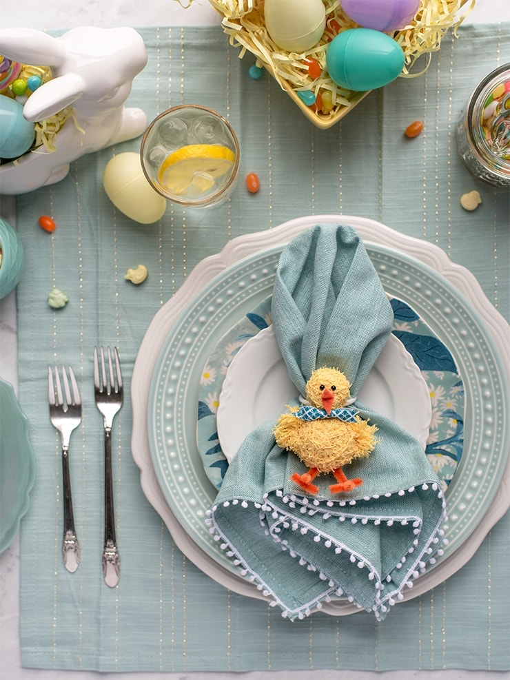 Chick Napkins Rings 8764 Web - DIY Easter Napkin Rings