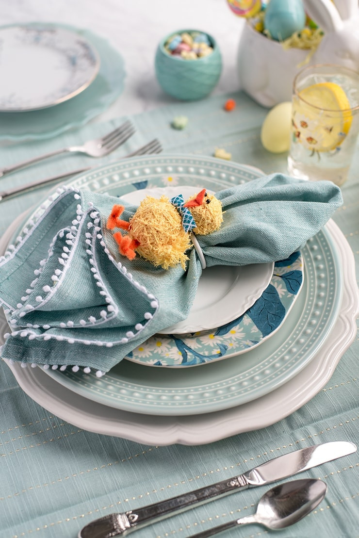 Chick Napkins Rings 8768 Web - DIY Easter Napkin Rings
