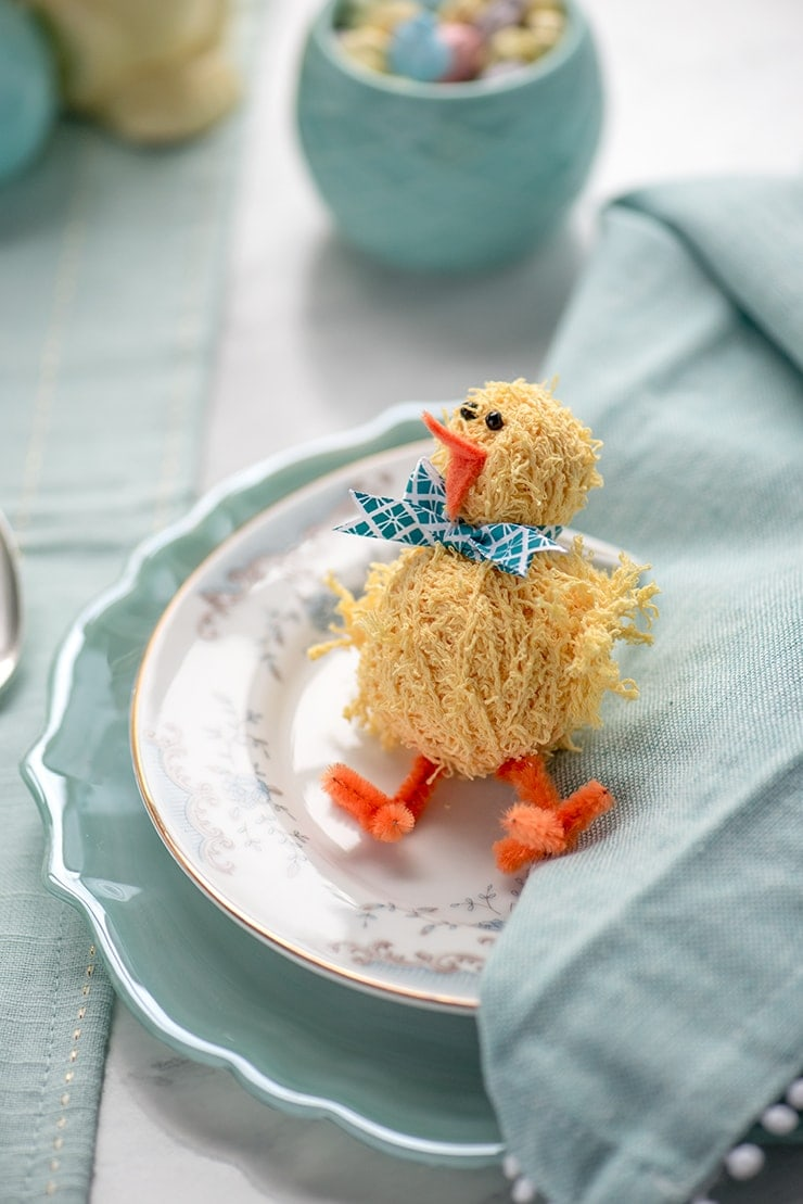 Chick Napkins Rings 8810 Web - DIY Easter Napkin Rings
